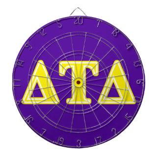 Delta Tau Delta Yellow Letters Dartboard