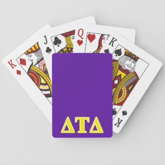 Delta Tau Delta Yellow Letters Playing Cards