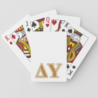 Delta Upsilon Gold Letters Playing Cards