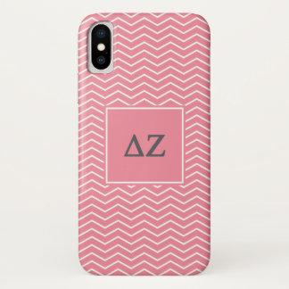 Delta Zeta | Chevron Pattern iPhone X Case