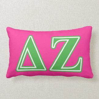 Delta Zeta Green Letters Lumbar Pillow