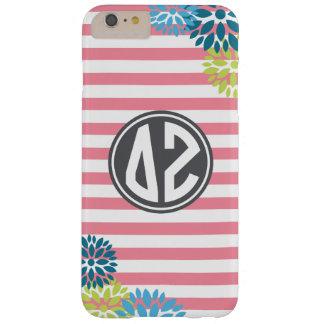 Delta Zeta | Monogram Stripe Pattern Barely There iPhone 6 Plus Case