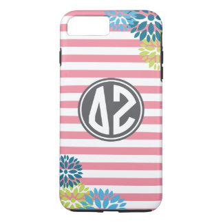 Delta Zeta | Monogram Stripe Pattern iPhone 7 Plus Case