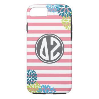 Delta Zeta | Monogram Stripe Pattern iPhone 8/7 Case