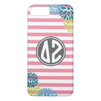 Delta Zeta   Monogram Stripe Pattern iPhone 8 Plus/7 Plus Case