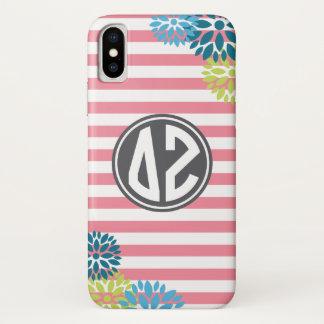 Delta Zeta | Monogram Stripe Pattern iPhone X Case