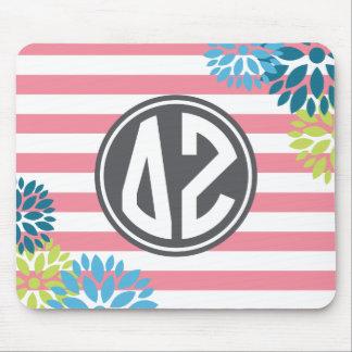 Delta Zeta | Monogram Stripe Pattern Mouse Pad
