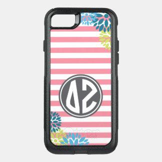 Delta Zeta | Monogram Stripe Pattern OtterBox Commuter iPhone 8/7 Case