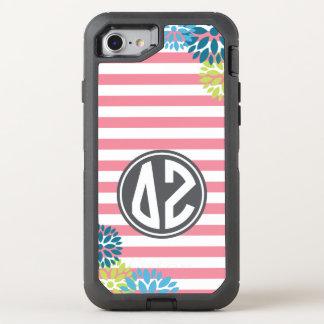 Delta Zeta | Monogram Stripe Pattern OtterBox Defender iPhone 8/7 Case