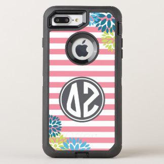 Delta Zeta | Monogram Stripe Pattern OtterBox Defender iPhone 8 Plus/7 Plus Case
