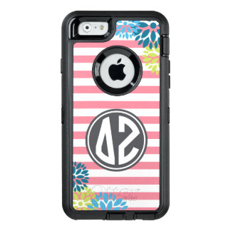 Delta Zeta | Monogram Stripe Pattern OtterBox Defender iPhone Case