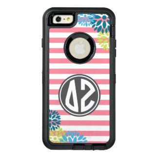 Delta Zeta | Monogram Stripe Pattern OtterBox Defender iPhone Case