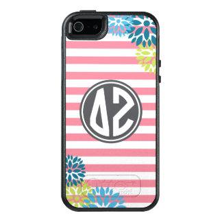 Delta Zeta | Monogram Stripe Pattern OtterBox iPhone 5/5s/SE Case