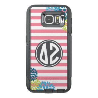 Delta Zeta | Monogram Stripe Pattern OtterBox Samsung Galaxy S6 Case