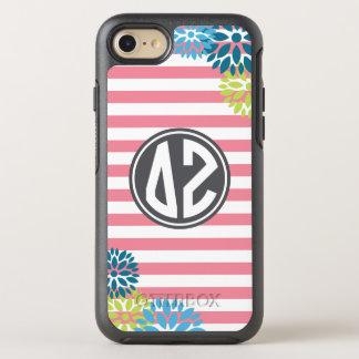 Delta Zeta   Monogram Stripe Pattern OtterBox Symmetry iPhone 8/7 Case