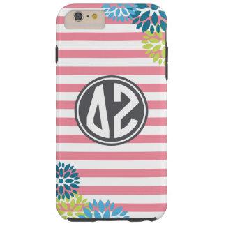 Delta Zeta | Monogram Stripe Pattern Tough iPhone 6 Plus Case