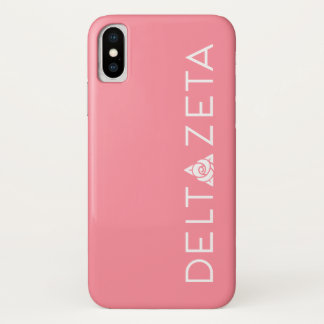 Delta Zeta Primary Logo White iPhone X Case
