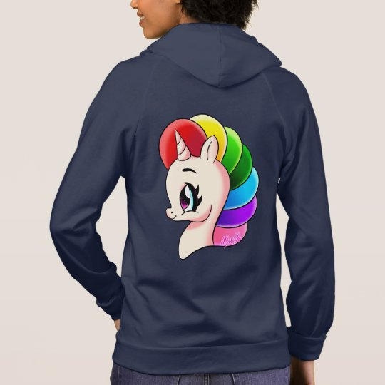 Deluxe 2 Sided Unicorn California Fleece Zip Hoody