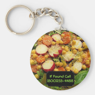 Deluxe Family Salad Basic Round Button Keychain