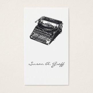 Deluxe Noiseless Typewriter Business Card