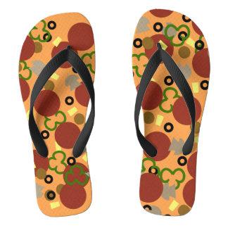 Deluxe Pizza Flip Flops