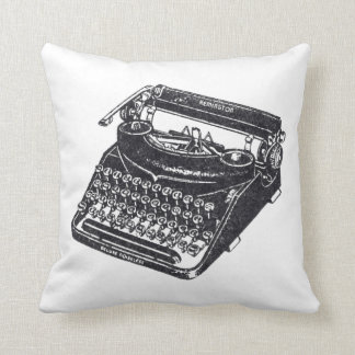 Deluxe Vintage Noiseless Typewriter Throw Pillow