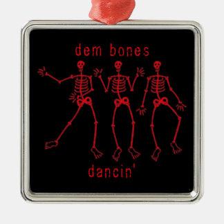 dem bones dancin' Skeleton Dance Metal Ornament