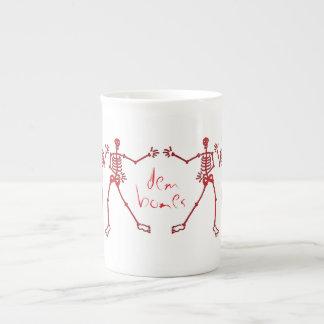 dem bones skeletons tea cup