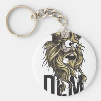 Dem buttocks beard animal keychain