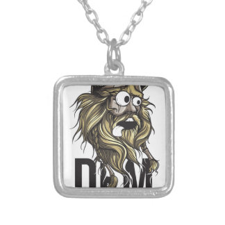 Dem buttocks beard animal silver plated necklace