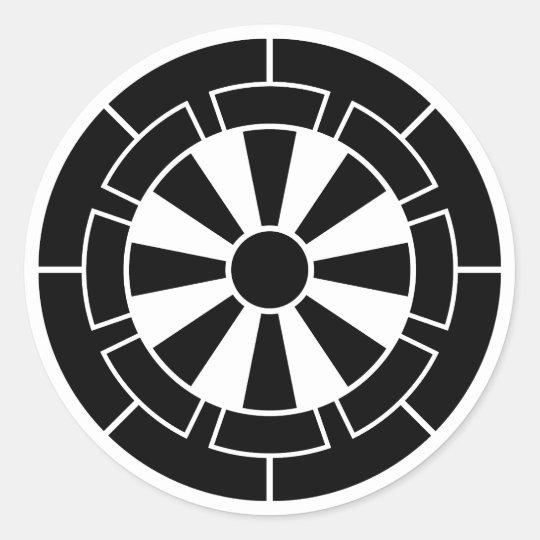 Demagnetization car classic round sticker