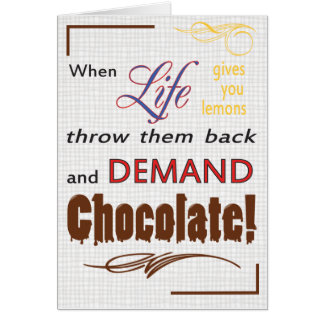 Demand Chocolate Card
