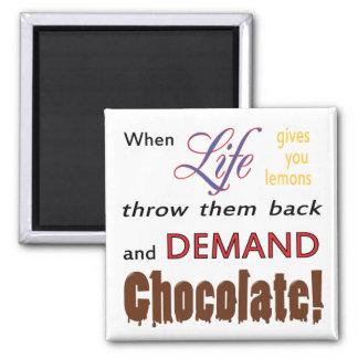 Demand Chocolate Square Magnet