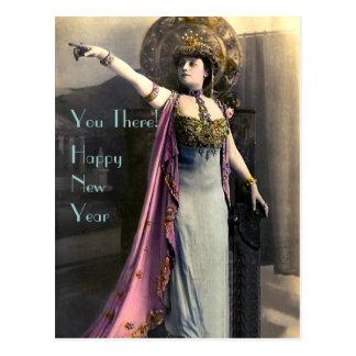 Demanding a Happy New Year Postcard