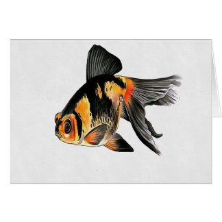Demekin Goldfish Isolated Card