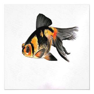 Demekin Goldfish Isolated Magnetic Invitations