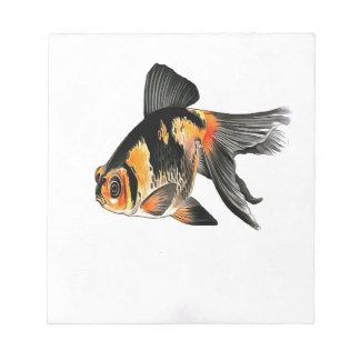 Demekin Goldfish Isolated Notepad