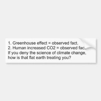 Démenti de réchauffement climatique = Antiscience  Autocollant De Voiture