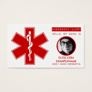 dementia emergency contact card
