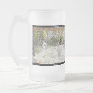 Demeter Frosted Glass Beer Mug