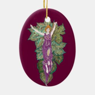 Demeter mother-goddess ceramic ornament