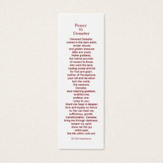 Demeter Prayer Card