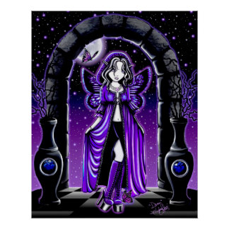 Demi Twilight Moon Butterfly Fairy Poster