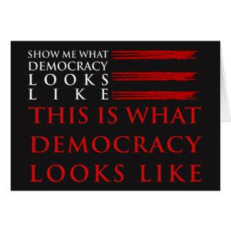 Democracy Dark Greeting Card