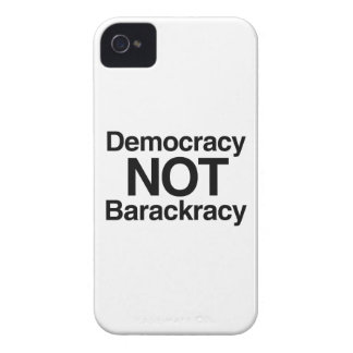 DEMOCRACY NOT BARACKRACY iPhone 4 Case-Mate CASES
