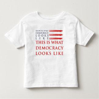 Democracy Toddler Jersey T-Shirt