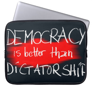 Democracy v Dictatorship Laptop Sleeve