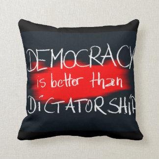 Democracy v Dictatorship Throw Pillow