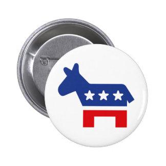 Democrat 2 Inch Round Button