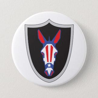 Democrat Army 3 Inch Round Button